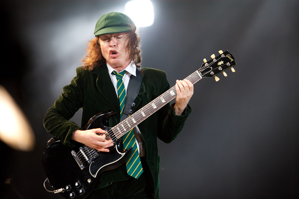 an analysis of the topic of angus young guitarist of acdc